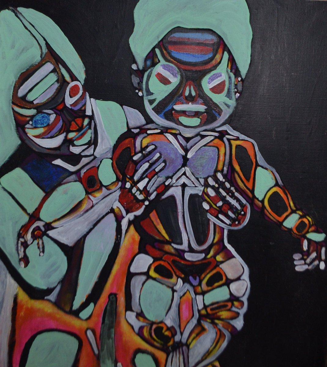 母と子 #art #artwork #illustration #mother #children #son #アート #芸術 #絵画 #イラスト #母 #子 #アナログ #アナログ絵描きさんと繋がりたい
