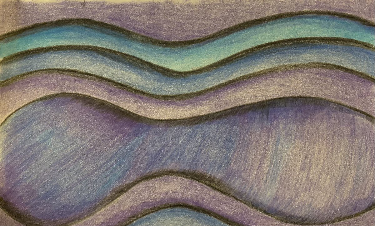 Day 36 of #the100dayproject ... Shades of Blue. Done with coloring pencils.... #100dayproject #the100dayproject2021 #100dayproject2021 #art #artwork #draw #drawing #blue #Abstract #Abstractart