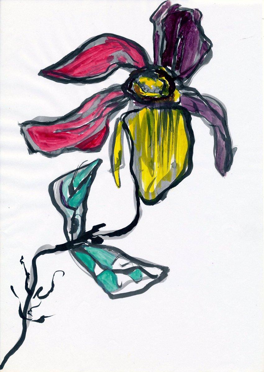 #art #artwork  #illustration #painting #Flowers #アート #芸術 #絵画 #イラスト #花 #アナログ絵 #アナログ絵描きさんと繋がりたい