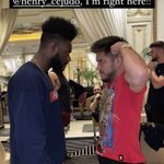 Image for the Tweet beginning: Aljamain Sterling offers to fight