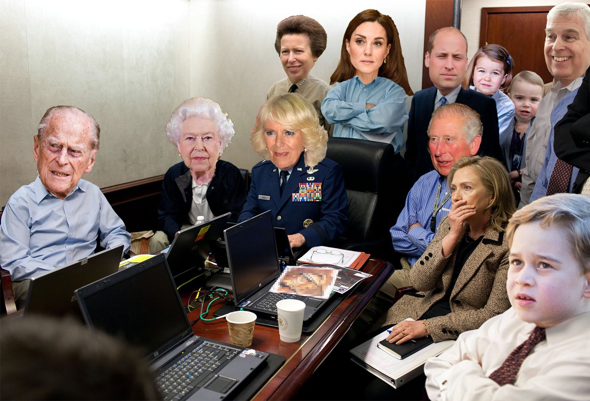 Liveshot out of Buckingham Palace of the Royals watching #OprahMeghanHarry right now.