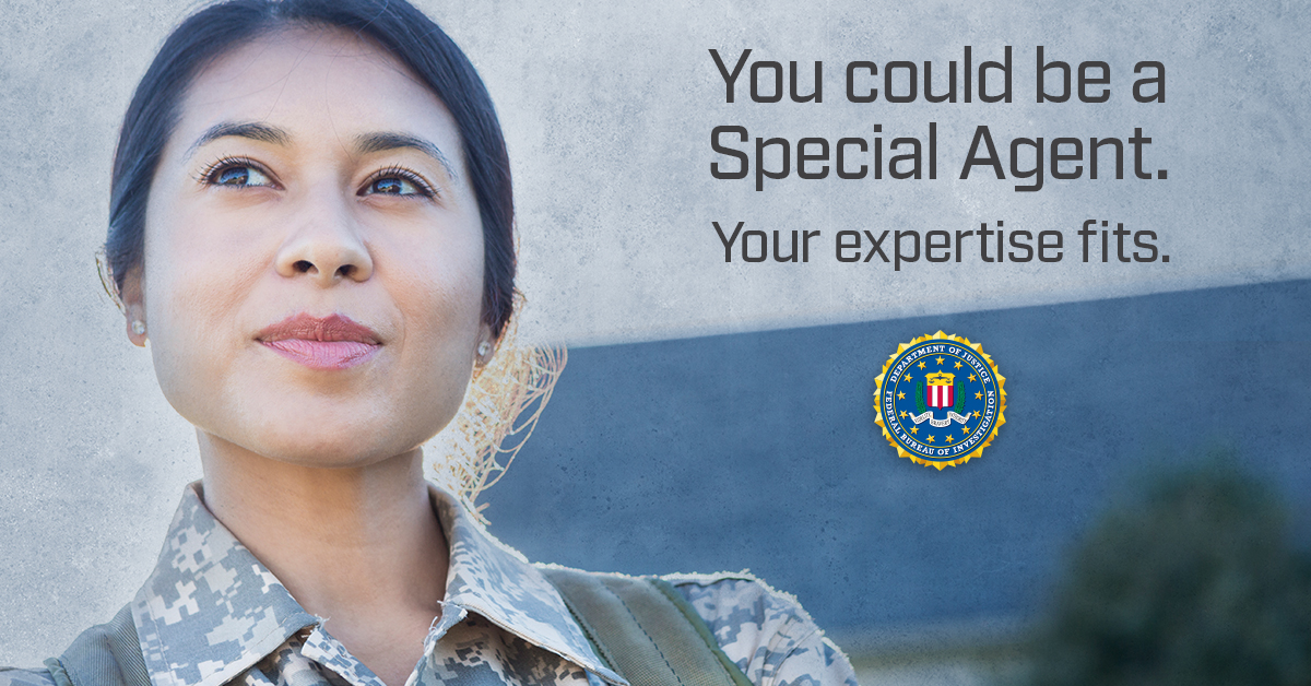 Your distinguished service is a reflection of your unique heritage and culture. Respect for tradition plays an important part in all that you do. Bring that to the FBI. #FBIJobs