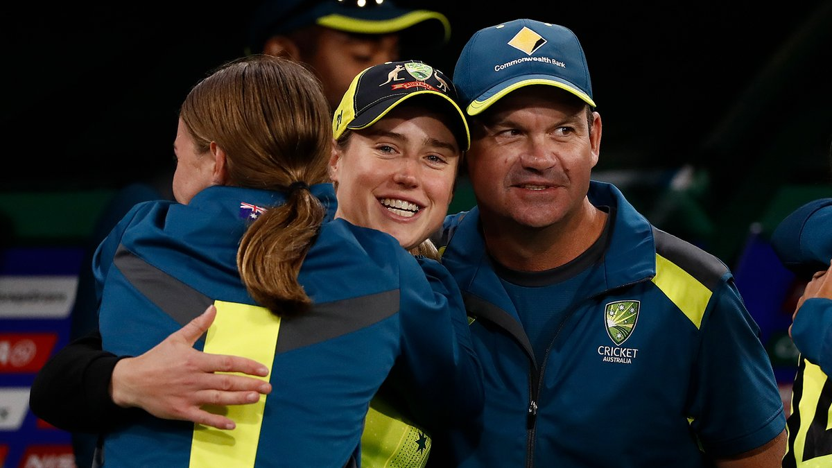 That winning feeling 🤩  Inside the dugout the moment @AusWomenCricket won the @T20WorldCup on International Women's Day.  #IWD2021