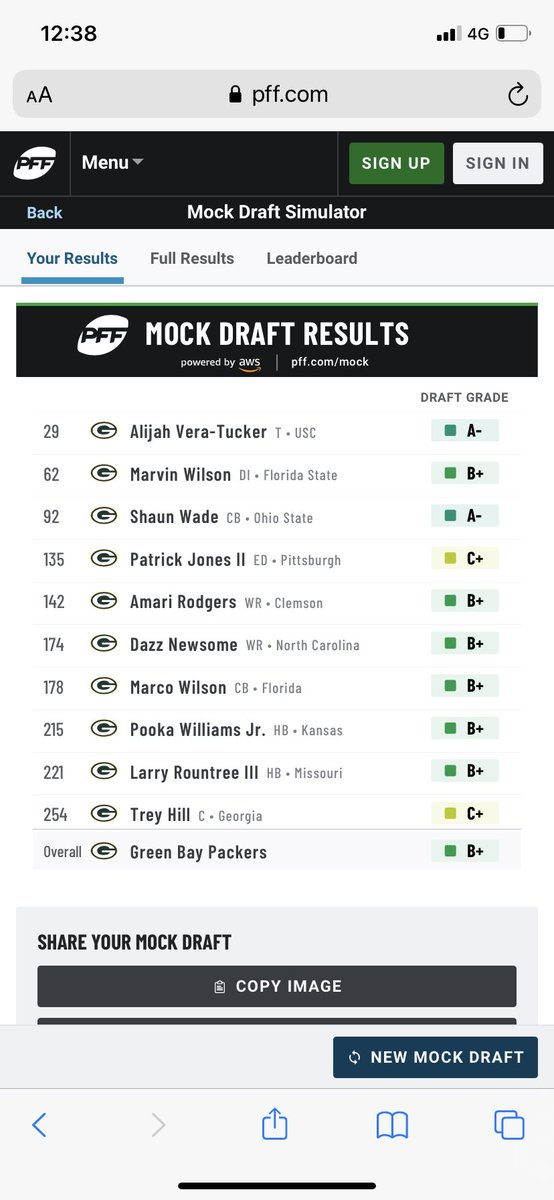 I'd honestly be chuffed with a draft like this, gives so much for the present and future. Very doable 💚💛🇦🇺🧀#GoPackGo