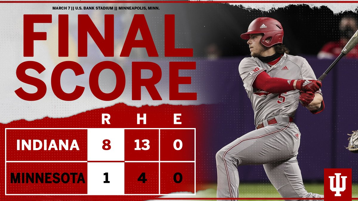 Replying to @IndianaBase: Hoosiers win! #IUBase finishes the weekend with a 3-1 record.