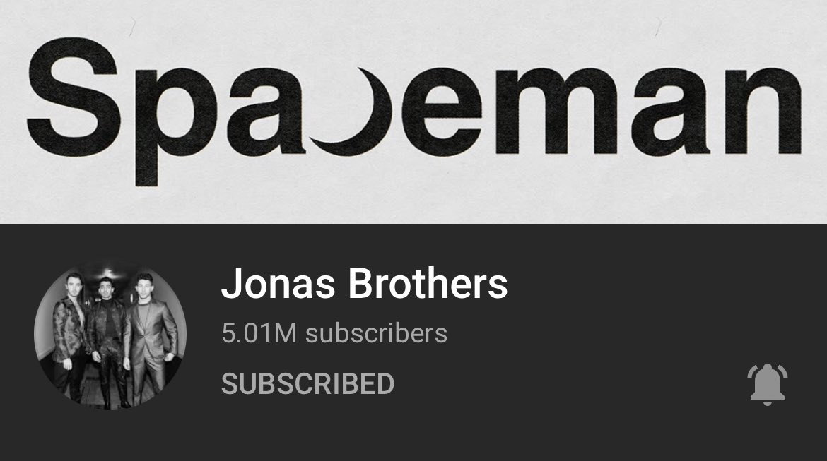 The Jonas Brothers YouTube account just hit 5.01M subscribers! The growth is so puzzling to me during a period that they haven't dropped anything tho. I mean YAY more subscribers BUT HOW 🤯🧐