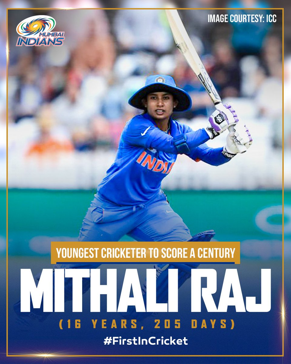 Age has always been just a number 😉  #OneFamily #MumbaiIndians #InternationalWomensDay @M_Raj03 @ICC