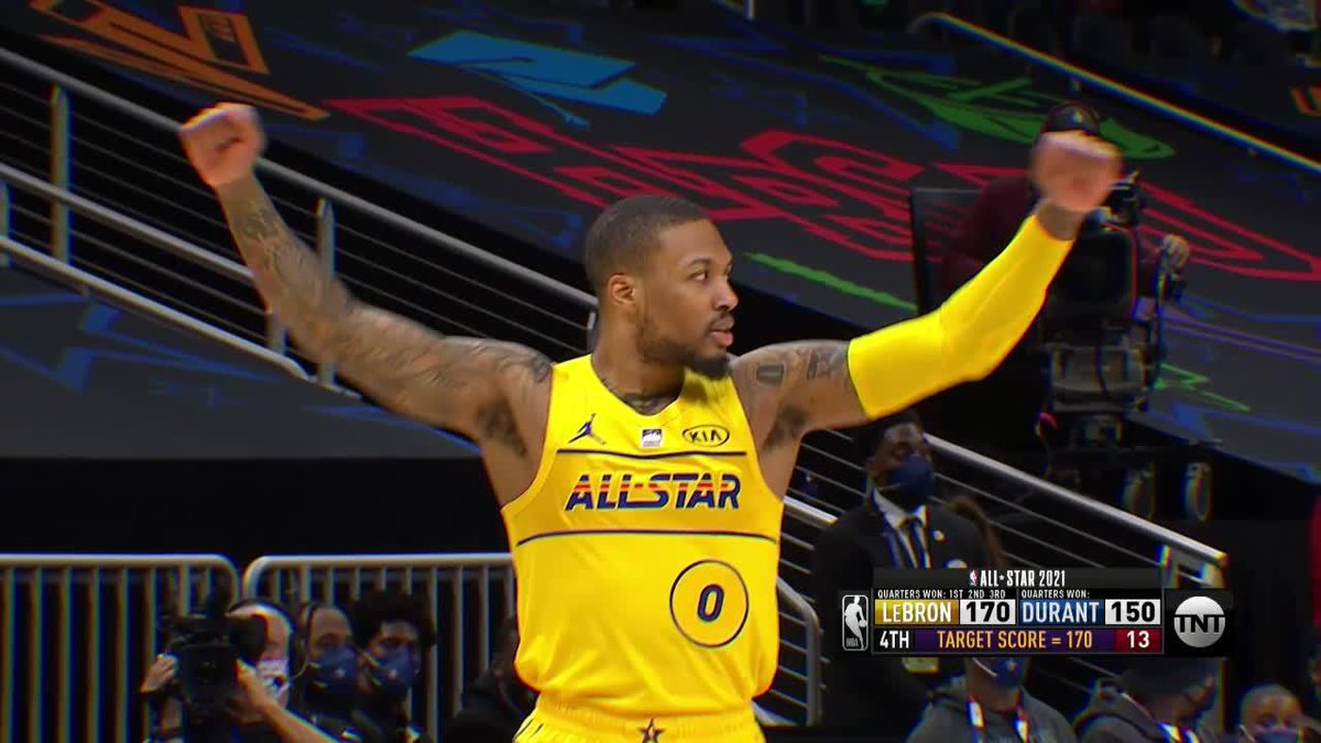 DAME WINS IT FOR TEAM LEBRON 🚨 https://t.co/Qx7DS6lCC8
