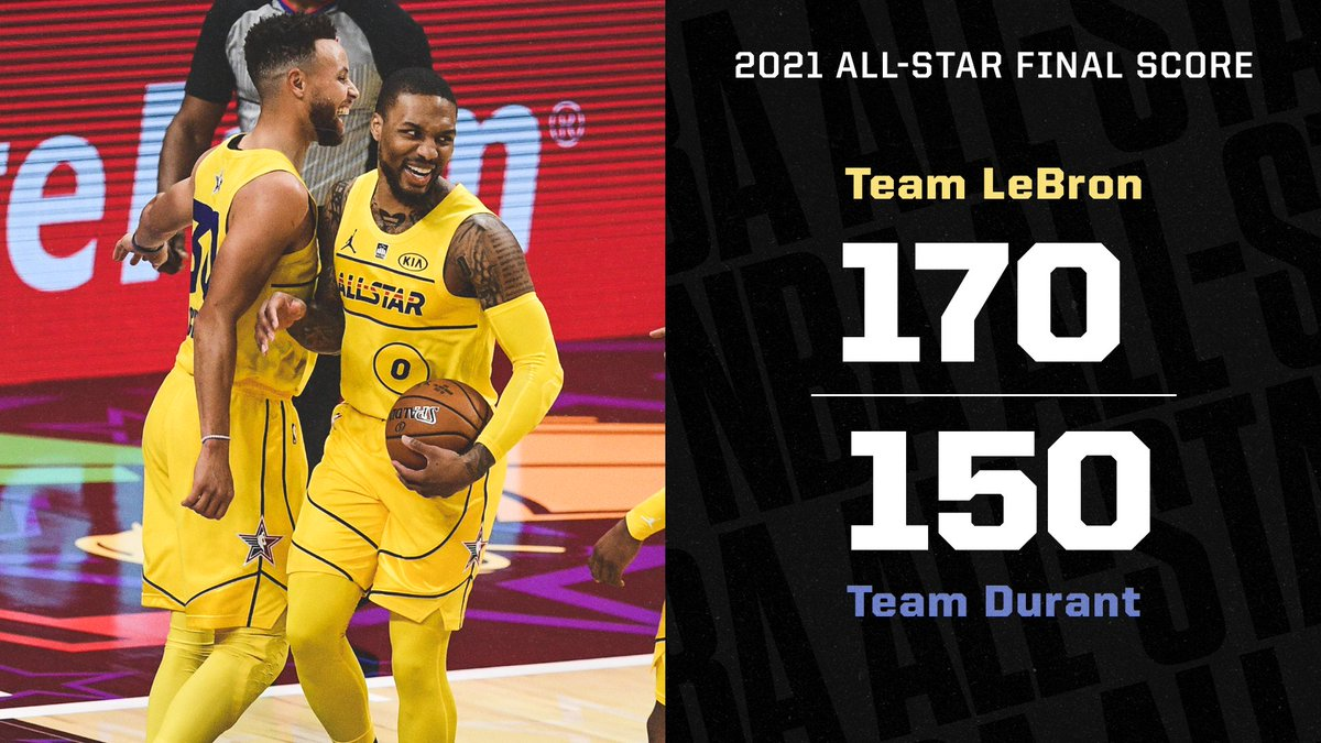 Team LeBron dominates and comes away with the W 🔥  #NBAAllStar