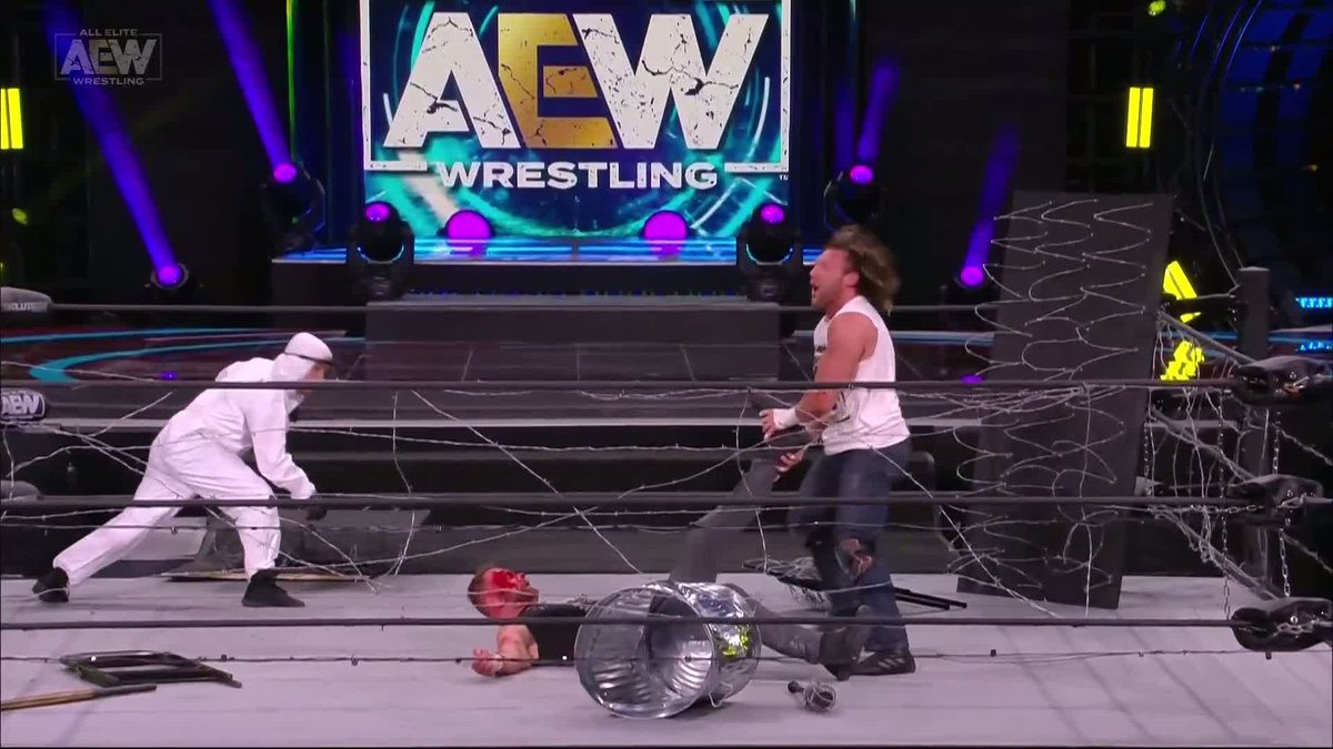 Now it's @KennyOmegamanX's turn to feel that pain! Order #AEWRevolution now on all major providers, @brlive, and @FiteTV (international fans)
