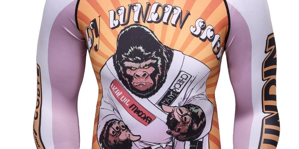 #thaiboxing #fitnessmotivation #kravmaga #knockout #repost #mcgregor #bhfyp #wingchun #blackbelt #sambo #wushu #love #box #fights #mma #ufc #boxing #bjj Monkey Jiu Jitsu Rash Guard