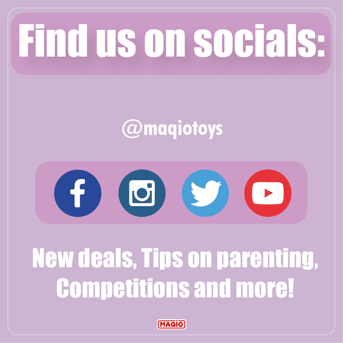 Remember: Follow us on all our social media channels to stay updated about new deals, tips on parenting and more!😊  #parenting #newdeals #bargain #socials #competitions #maqiotoys  #bargaintoys #toys #sale #parenting #kids #mum #backtoschool #lowprices #storage #clearpay