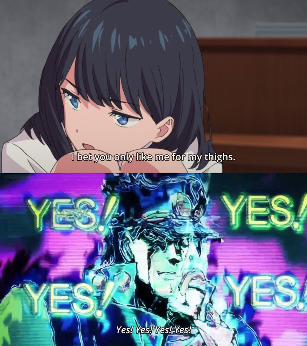 All of you are guilty of this(including me). Go to jail. Go directly to jail. Do not pass go. Do not collect $200. #SSSSGRIDMAN #RikkaTakarada #anime