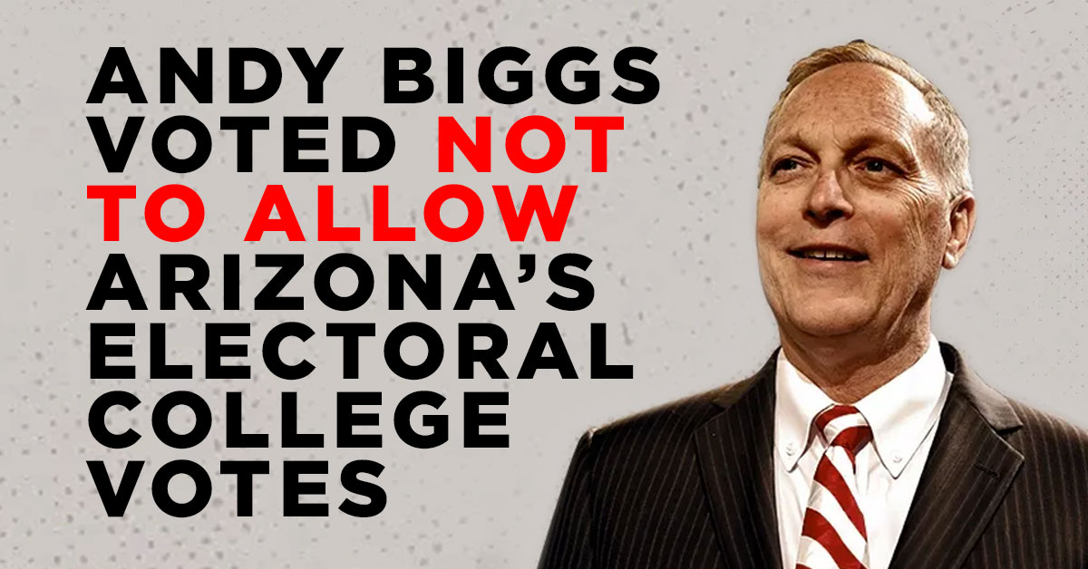 @RepAndyBiggsAZ Andy Biggs tried to overthrow American democracy.  #TheBigLie  #MAGA  #Arizona  #insurrection https://t.co/IO40ebg7LH