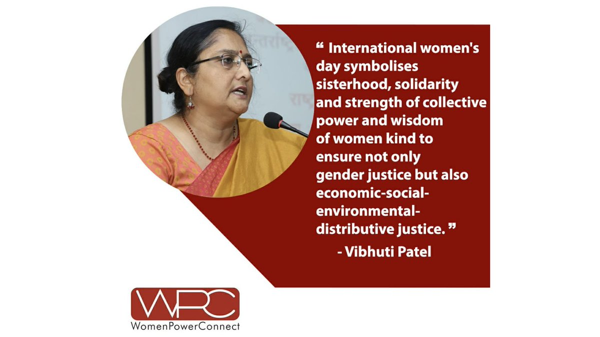 An inspiring message from our Governing Body member, Dr. Vibhuti Patel #IWD2021  #InternationalWomensDay  @ProfVibhuti https://t.co/rN5ui1QyPu