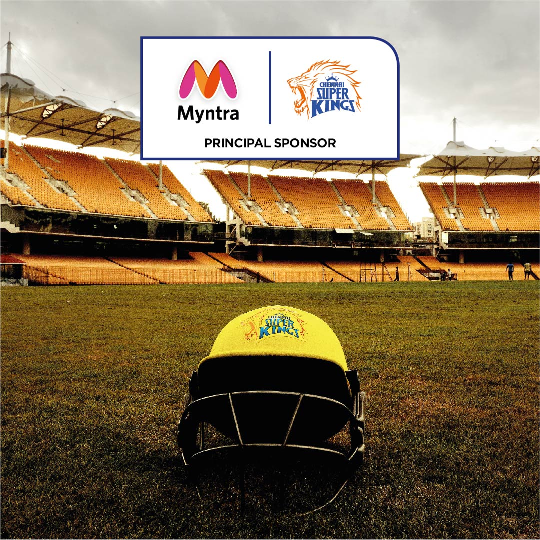 Semma Style ah Geth ah!  Myntra joins hands with Chennai Super Kings as 'Principal Sponsor' and 'Official Fashion Partner'.  India's Leading Fashion Destination will feature all things yellovely for the #SuperFam! @myntra #WhistlePodu #Yellove 🦁💛
