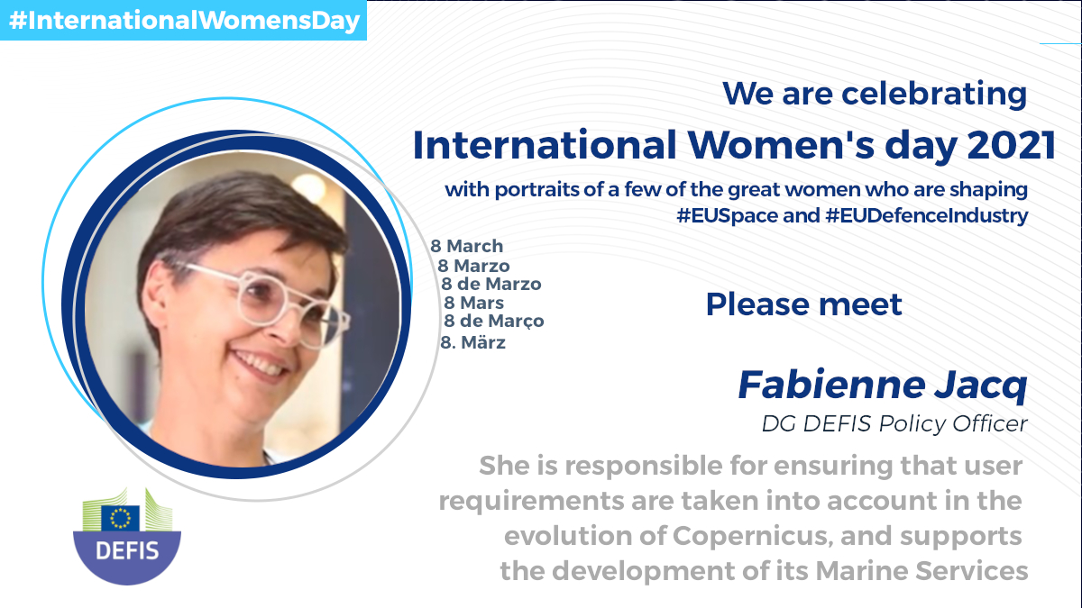 #8March #8Marzo #8deMarco #8mars #8deMarzo #8Marz   We celebrate #InternationalWomensDay by introducing some of our great #EUwomen4future  They are shaping the future of #EUSpace 🇪🇺🛰️& #EUDefenceIndustry 🇪🇺🛡️  #IWD2021