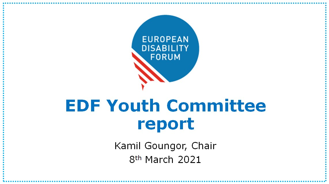 Just did the @MyEDF Youth Committee report for the #EDFboard, about our recent work. It includes topics like Erasmus+, inclusive education, COVID-19, youth work, sexuality, among others.  Also, spoke about our plans for 2021, a year we dedicate to Independent Living and Housing. https://t.co/oDhFAcT4bm