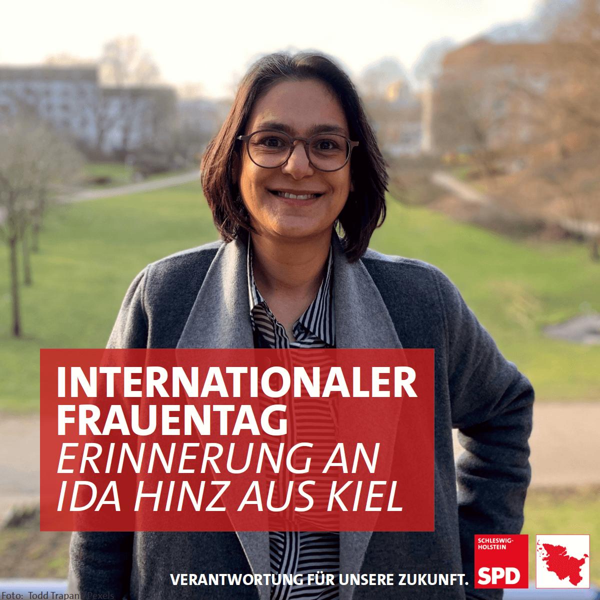 Hinter mir seht ihr den Ida-Hinz-Park in #Kiel. Ida Hinz war Deutschlands erste Stadtpräsidentin. Und zum #frauentag2021, möchte ich an sie erinnern. Mehr zu Ida Hinz findest Du hier: spd-geschichtswerkstatt.de/wiki/Ida_Hinz