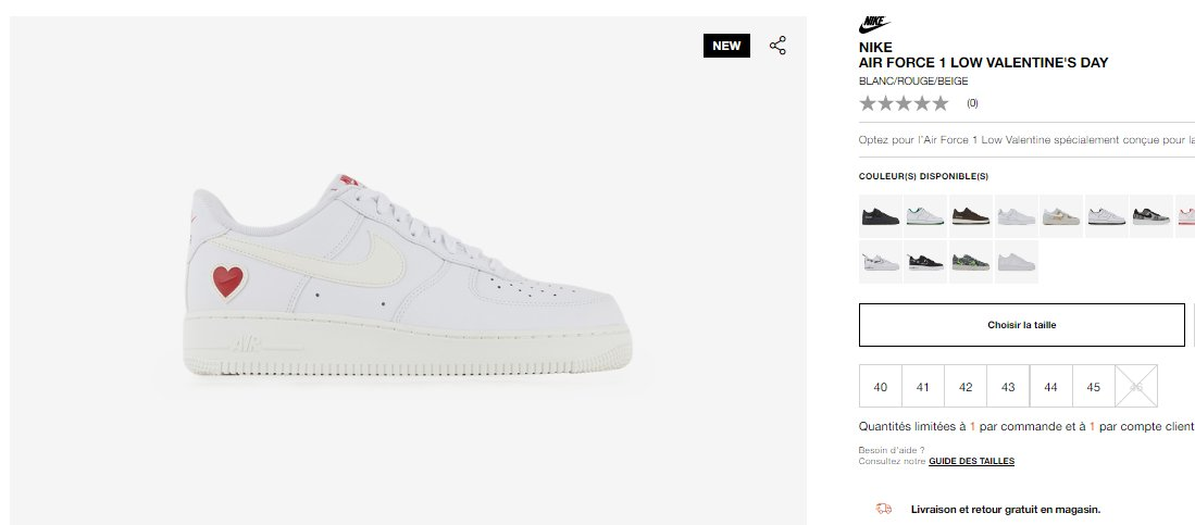 Full Restock: Nike Air Force 1