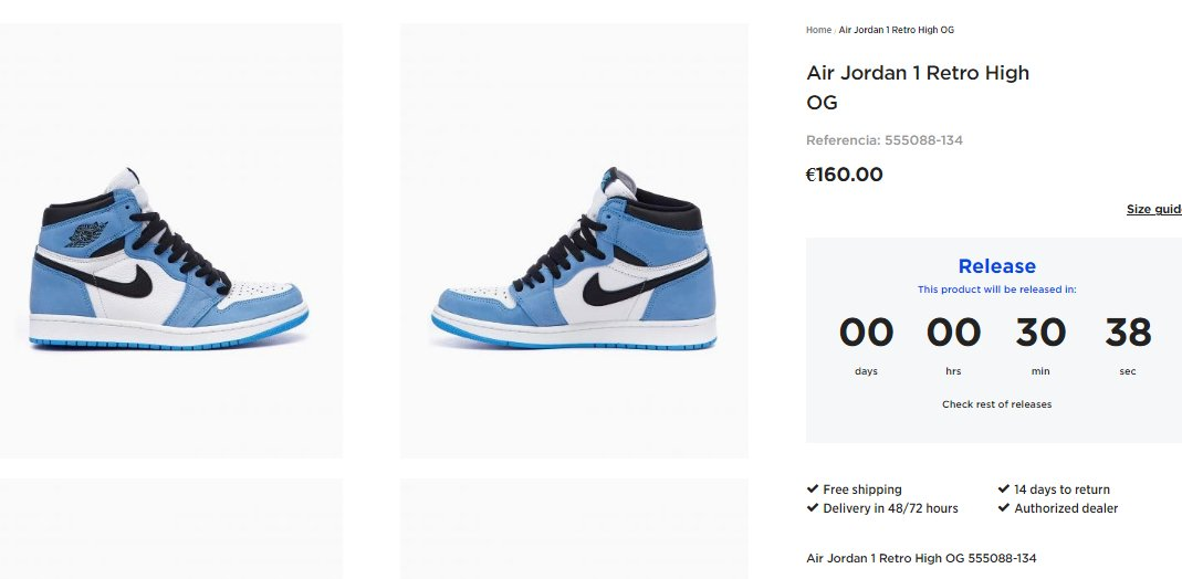 Live in 30 minutes: Air Jordan 1 Retro High OG
