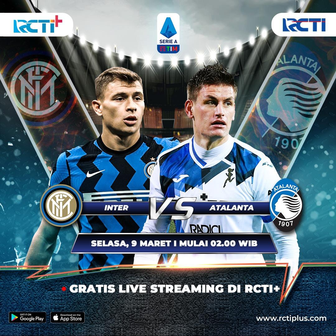 Streaming INTER vs ATALANTA gratis ➡️   Inter wajib meraih kemenangan untuk menjaga jarak dari para pesaingnya. Saksikan juga pertandingannya DINI HARI nanti mulai pukul 02.00 WIB gratis di RCTI+  #RCTIPlusAda #SerieA