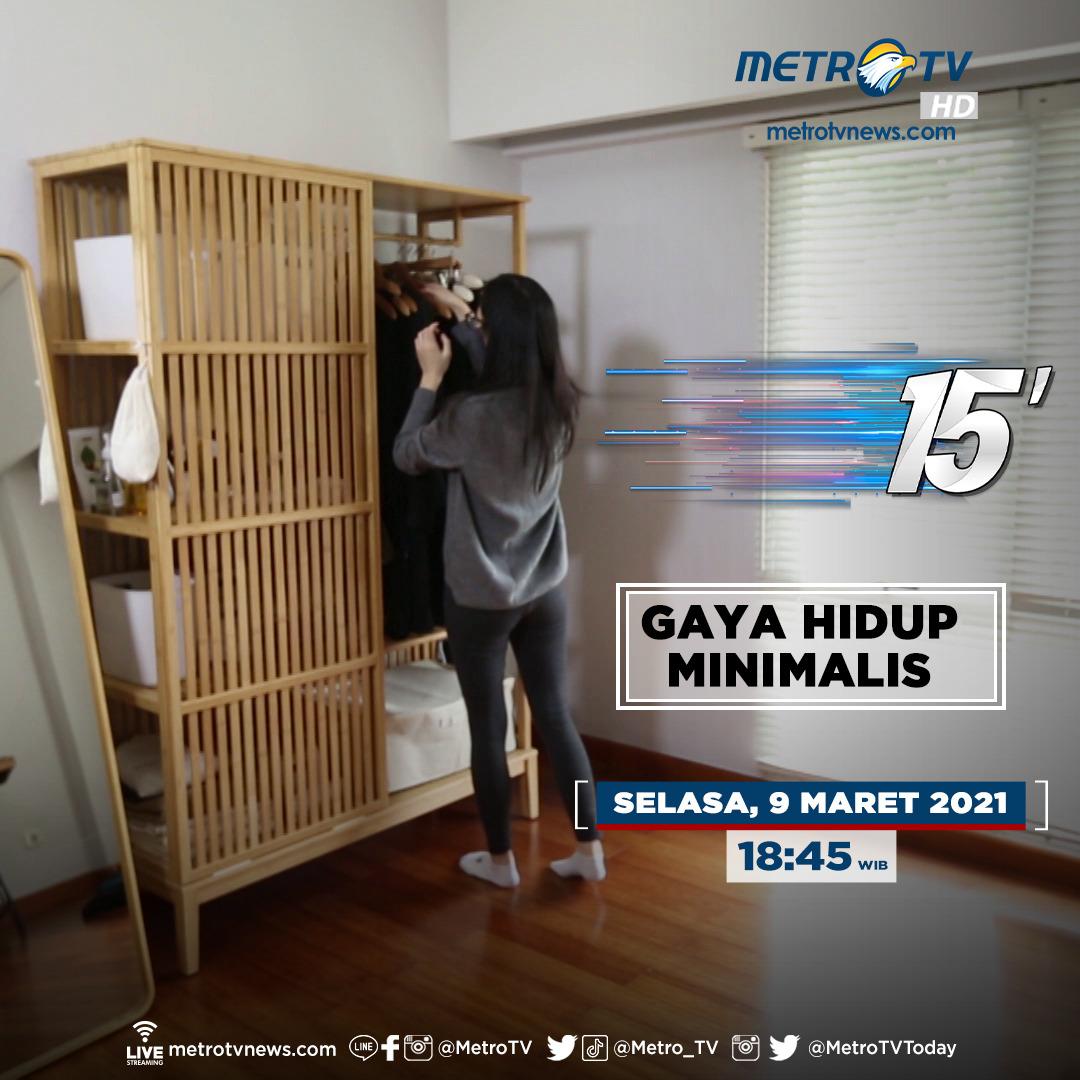 Gaya hidup minimalis adalah gaya hidup yang mulai diminati di Indonesia. Singkat kata, gaya hidup ini menitikberatkan pada kualitas dibandingkan kuantitas. Saksikan #15MinutesMetroTV eps #GayaHidupMinimalis Selasa (9/3) pkl 18:45 WIB di #MetroTV  #minimalism #lifestyle