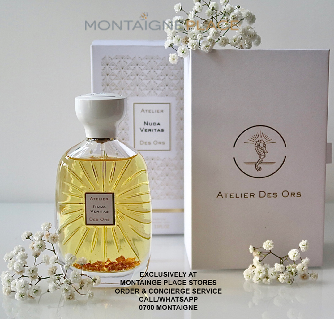 Exciting offer!!! Receive 15% off ATELIER DES ORS  To Experience ATELIER DES ORS, Come in-store or Call/WhatsApp the Concierge & Order Service 0700 MONTAIGNE  #dainty #graceful #fragrance #skin #sweet #musky #whilst #elevating #airy #nudeveritas #sense #peache #tranquility