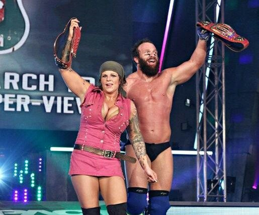 On this day in 2012, @TheEricYoung and @TheODBBAM won the TNA Knockouts Tag Team Championship #TNA #ImpactWrestling #KnockoutsTagTeamChampionship