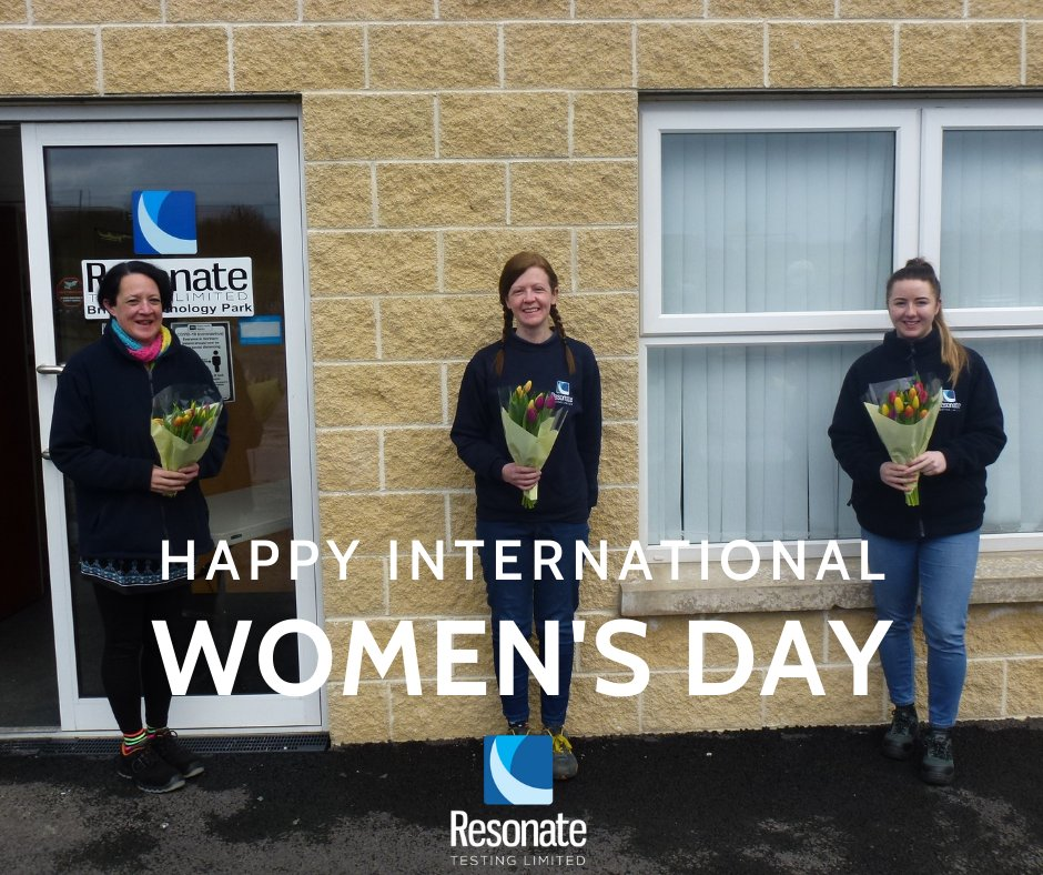 Today we are celebrating #InternationalWomensDay by recognising the fantastic group of women that we have at #ResonateTesting with a small floral token of appreciation.💐  We're extremely proud that 40% of our engineering team is female. #NewryBusiness #IWD2021 #ChooseToChallenge