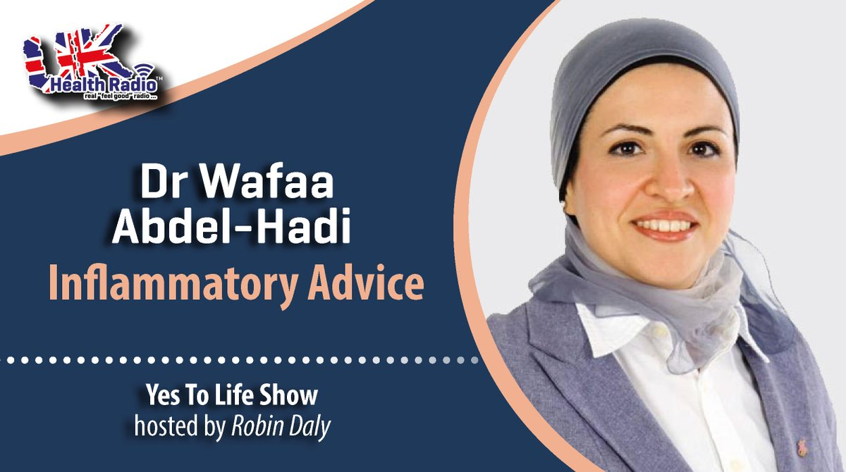 Replying to @ukhealthradio: This weeks @YesToLife show hosted by @RMK_Daly on @ukhealthradio - Inflammatory Advice - #Integrative #Oncologist @drwafaafxmed delves into the crucial topic of inflammation in relation to #cancer. 👉 🎧    #F…
