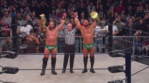 On this day in 2016, Beer Money, Inc.(@JamesStormBrand and @REALRobertRoode) won the TNA World Tag Team Championship for the 5th time #TNA #ImpactWrestling #TagTeamTitles #BeerMoney