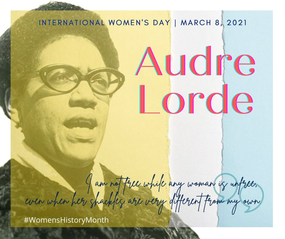 """🧵 This #InternationalWomensDay we wanted to introduce you to Audre Lorde, who was, in her own words, """"a Black, lesbian, mother, warrior, poet"""". Lorde had several intensely productive visits to West Berlin in the 1980s"""