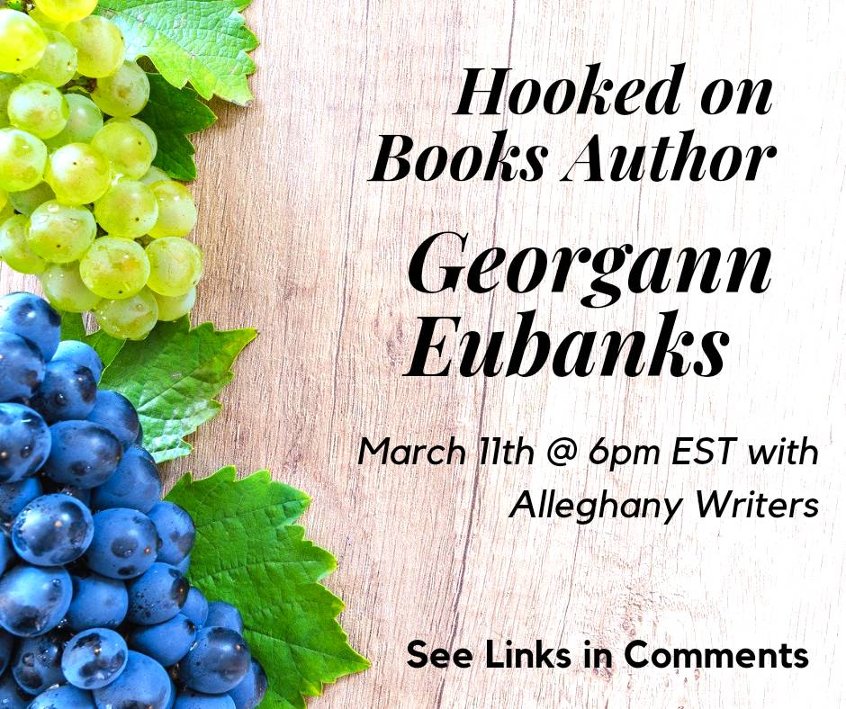 On March 11th join AW as we host author & #blogger @GeorgannEuban12 for #HookedonBooks. Georgann is the author of the NC Literary Trail series & The Year of Their Ripening. Become a member today to participate.    #WritingCommunity #Books #Blogger