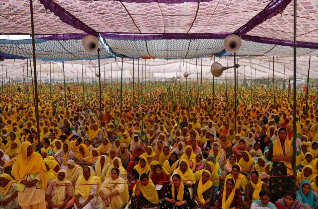 Thousands of #women join #Indian #farmers #protests against new laws #NewDelhi  #women joined protests by farmers on the outskirts of #Delhi #InternationalWomensDay  demanding the scrapping of new laws that open up #agriculture produce markets to private buyers #WomensDay #India