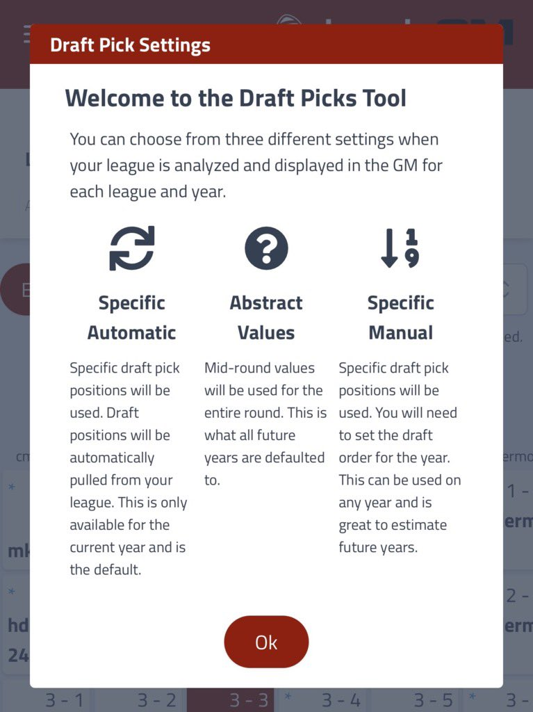 The #DynastyGM got a nice upgrade today.  Now we can auto pull in your @SleeperHQ @MyFantasyLeague and @fleaflicker draft picks and fill up the draft board for you.   Individual GM pick values 🔥  Laying the foundation for something bigger 👀  @FFPC integration next week 🔥 https://t.co/wxCQXfDgH8