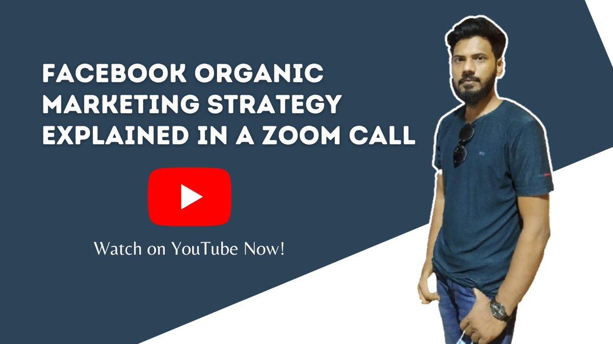 Want to master Facebook Organic Marketing?  Take this FREE training on YouTube:   #OnlineMarketing #AffiliateMarketing #OnlineBusiness #Homebusiness #BusinessOwner #businessgrowth #makemoneyonline #Bangladesh #MondayMotivation #Brand #business #entrepreneur