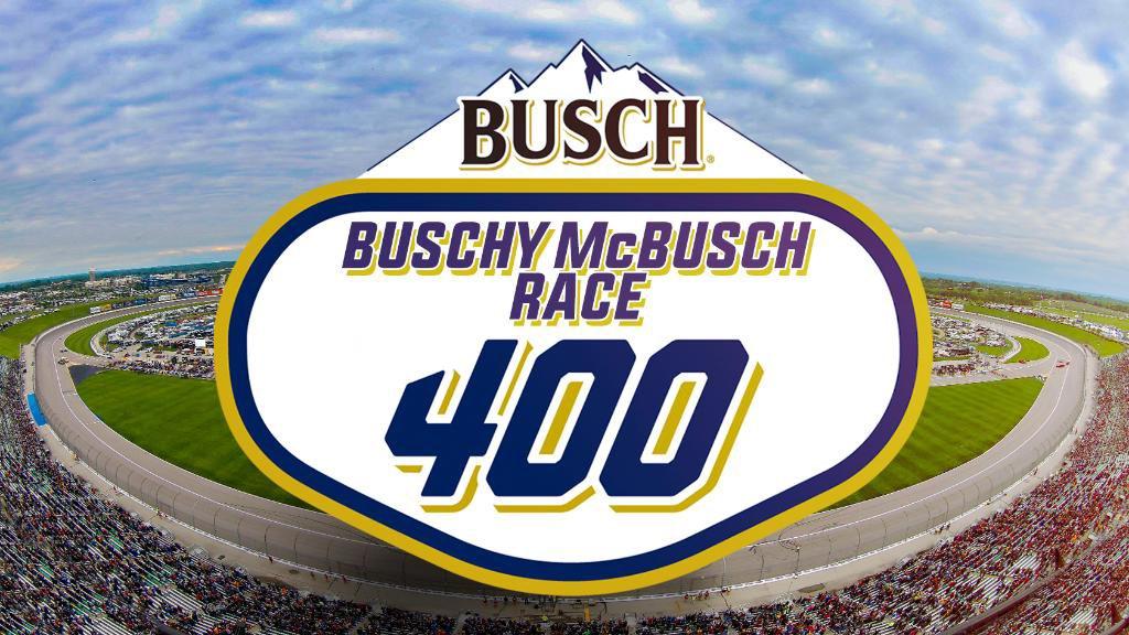 @BuschBeer @NASCAR @kansasspeedway #buschcontest Buschy McBusch Race 400 easily