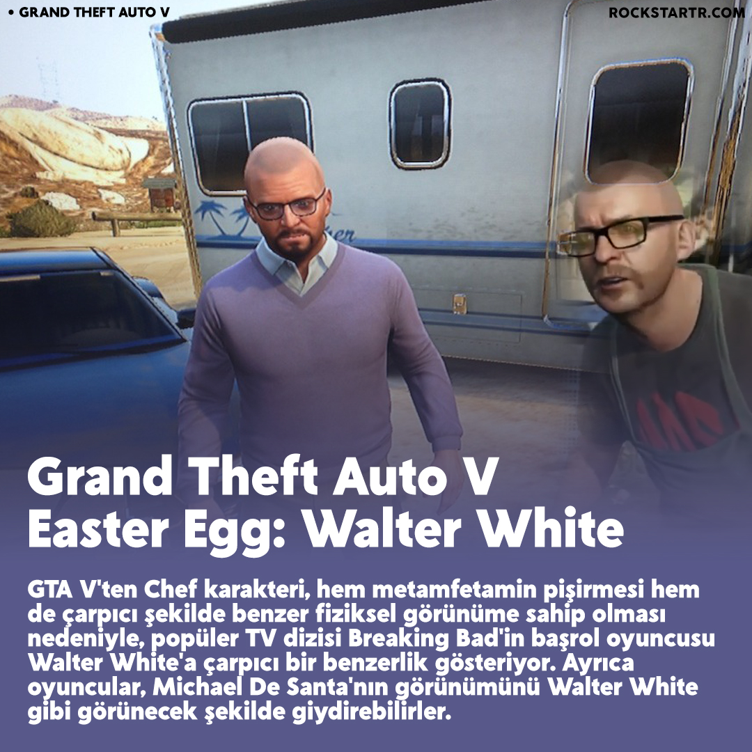 GTA V'teki Walter White Easter Egg'ini biliyor muydunuz? @RockstarGames   #RockstarGames #GTAV #GTA5 #BreakingBad #tvtime #movies #gamer #gamers #games #youtubepremium #twitchaffiliate #twitchstreamer #stream #streaming #Netflix #WomensDay #WomansDay #8Mart #8March #pazartesi