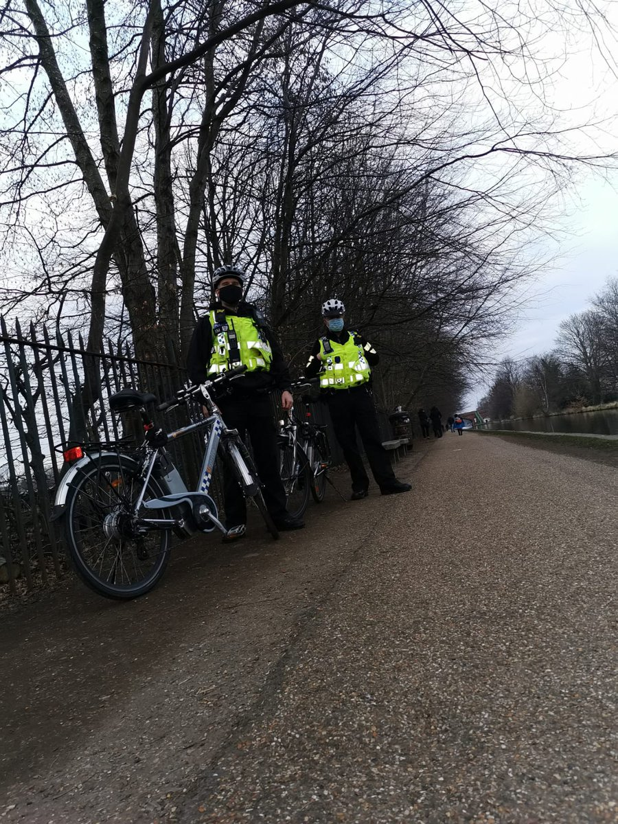 #TransportUnit officers deployed on pedal cycle in uniform and plain clothes patrolling the roads, cycle ways and Trafford Canal Path providing a presence in the Community to walkers, runners & #cyclists.  Within 2 hours two males were arrested.  #ontwowheels