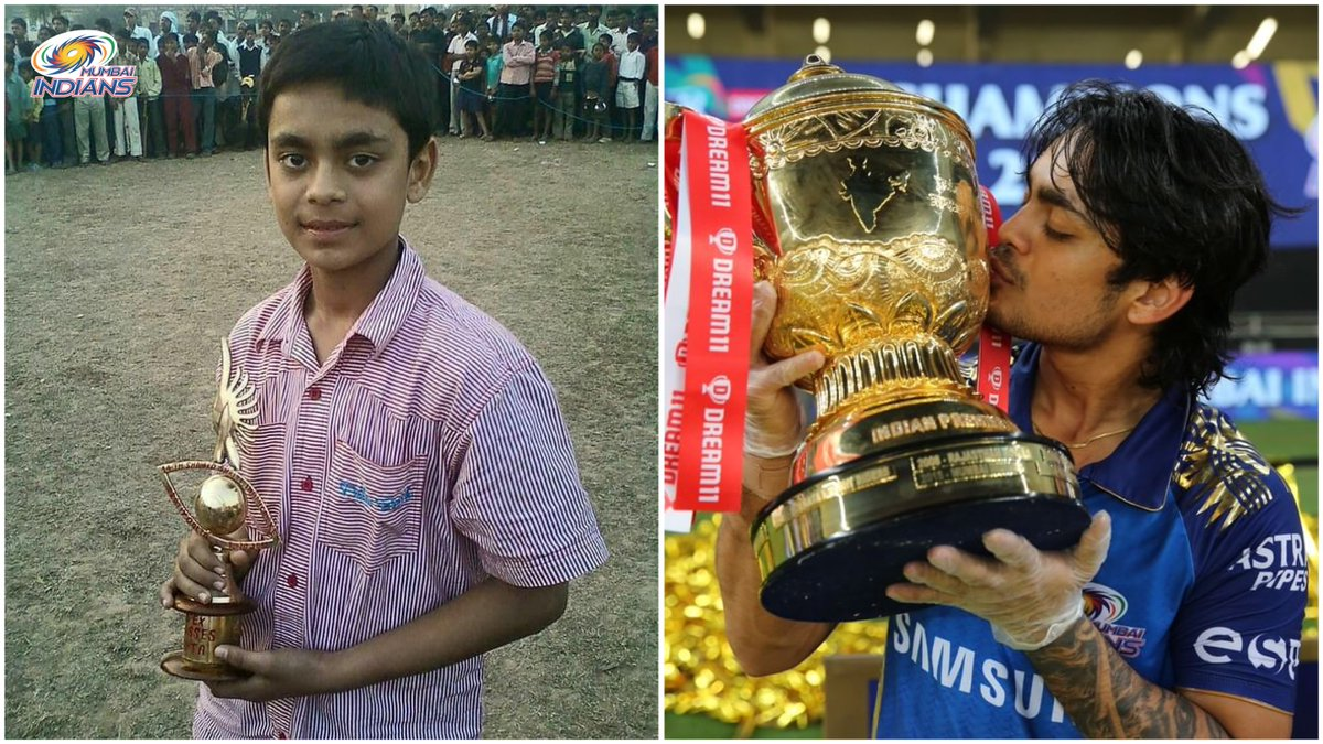 Some habits never change 👦🏆💙  #OneFamily #MumbaiIndians @ishankishan51