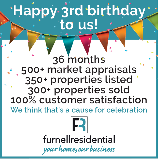 Happy birthday to us!  And what a first three years it has been, here's to many more!  #estateagent #propertyagents #wetherby #harrogate #leeds #housingmarket #lovewhereyoulive #FurnellResidentialSold #yourhomeourbusiness #celebrate #MondayMood