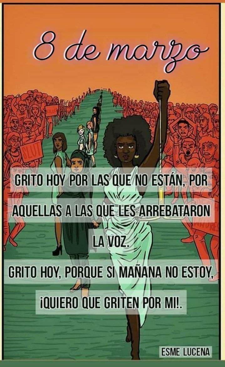 Que la voz sea cada vez mas fuerte,no estas sola.  #DiaInternacionalDeLaMujer #NiUnaMenos #8M2021