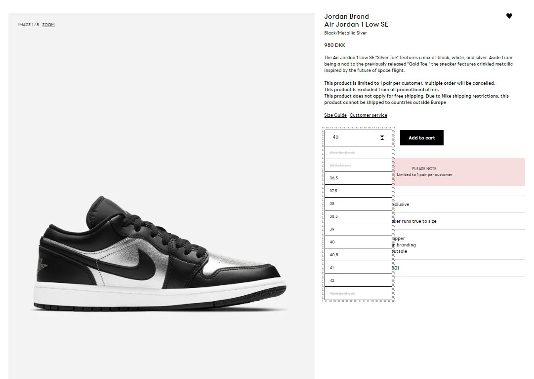 LIVE via NakedCPH: Air Jordan 1 Low