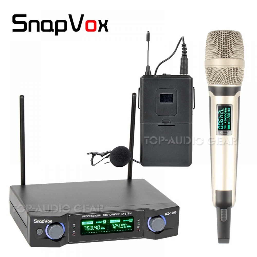 1 x Lavalier Lapel and 1 x Handheld Mic Professional Wireless Microphone System For Karaoke Singing KTV Stage Meeting Mikrofon  #fashion|#tech|#home|#lifestyle