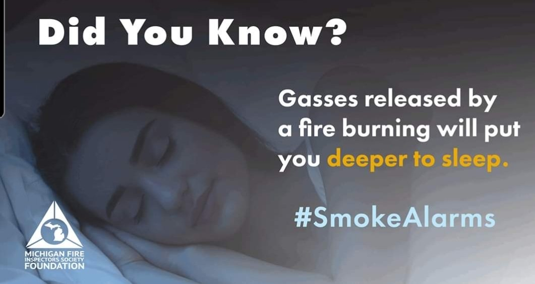 The majority of fatal fires occur overnight. A common myth is that you would wake up to the smell of smoke.   Gasses released by a fire burning will put you further to sleep. Working smoke alarms provides early detection of a fire.  #smokealarms #home #prevention #kids #bedtime
