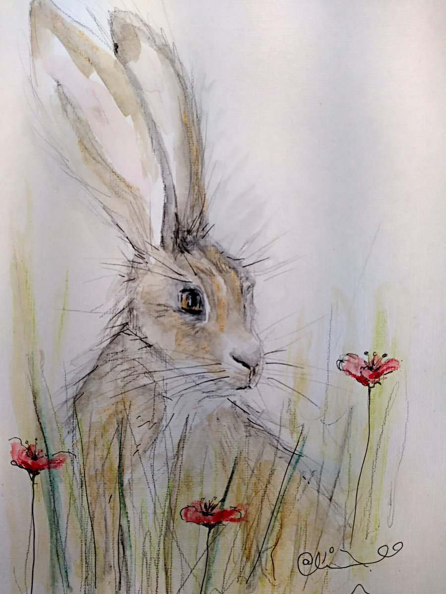 I've no clue what I'm doing with these but here's play around no#2  #art #artshare #artist #hare #painting #drawing
