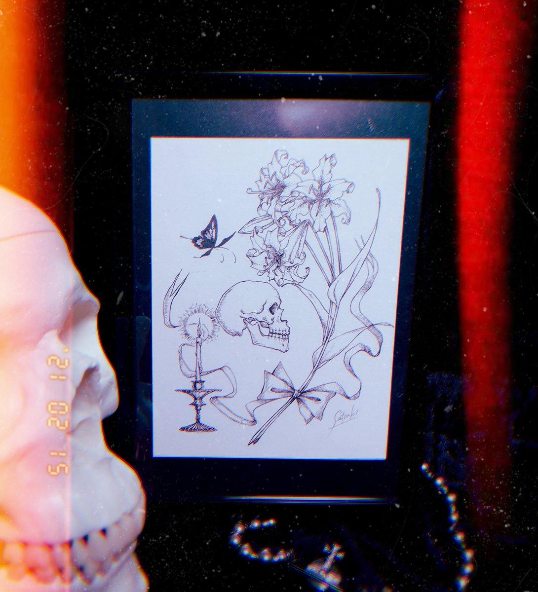 ギャラリーソノツモリ様にて販売中の原画「祈り」1500円です #イラスト #drawing #絵描きさんと繋がりたい #原画販売
