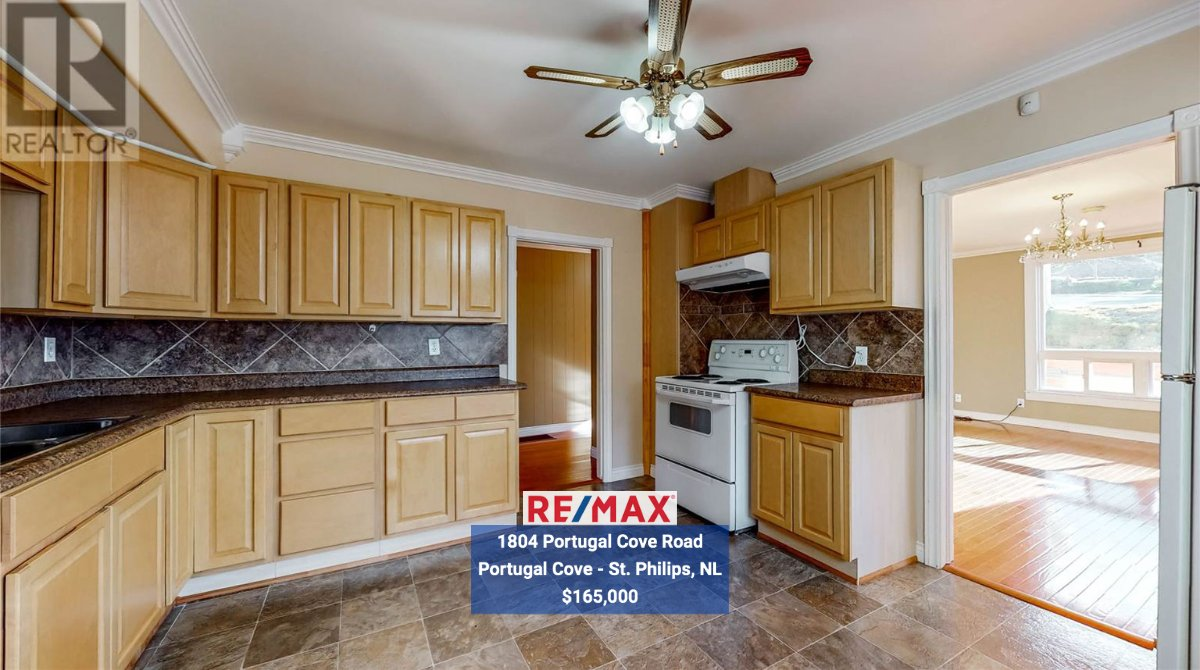 $165,000!! This well kept, move-in-ready, bungalow is located in the beautiful town of Portugal Cove. View listing:  Call Jeremy Snow: (709) 765-1490 MLS®1223873  #home #house #remax #stjohns #3dtour #virtualtour #RealEstate #realestateproperty