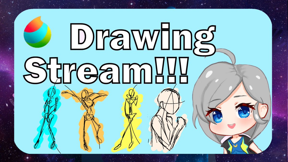Drawing Stream later at 9pm GMT+8... 40minutes later at ... Lez draw our beloved friend Vtuber!! Azura~!! #drawing #art #vtuber